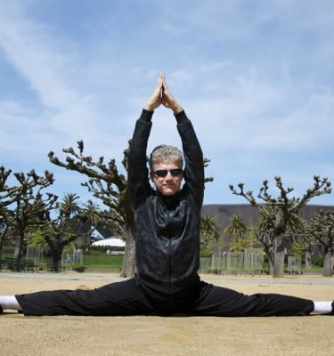 Scott Jensen shows the flexibility he developed in spite of suffering a pelvis broken in five places. Learn how to heal yourself and become a strong martial artist.
