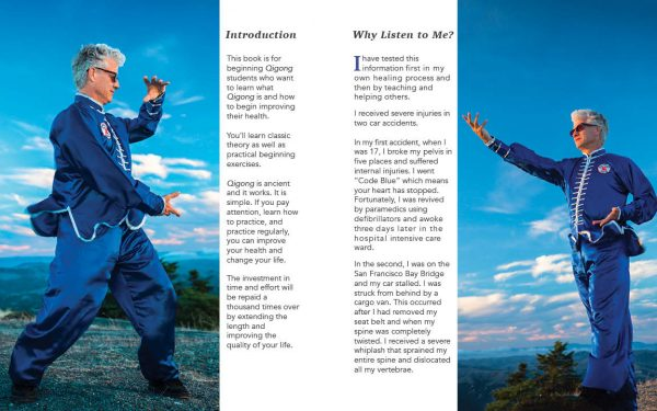 "Qigong for Health Sample Pages showing introductiona dn ""Why Study with Me?"""