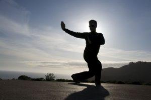 Scott Jensen practices Ba Gua Zhang Qigong in Marin