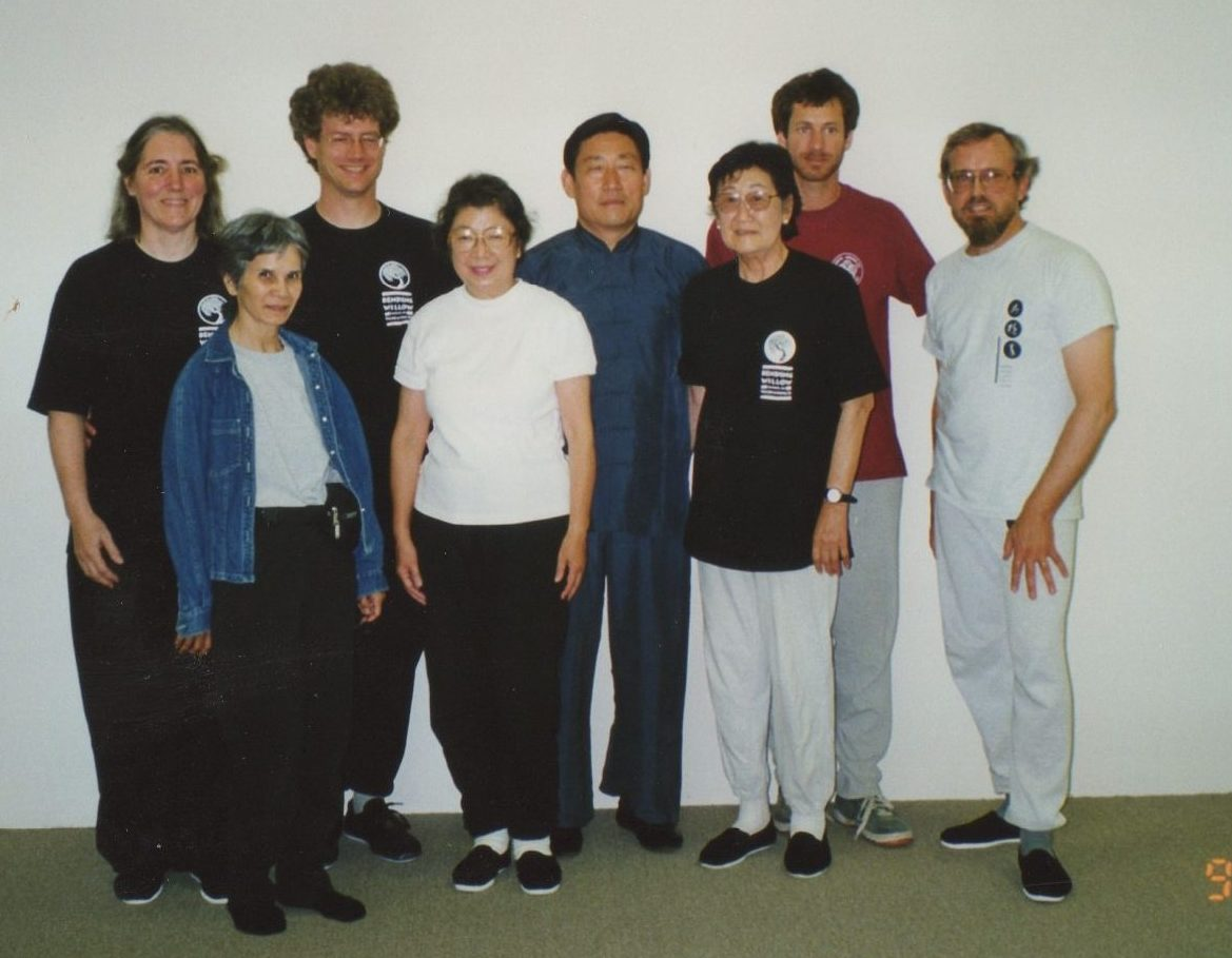 Chen Style Tai Chi Chuan Grand Master Chen Xiao Wang, Sifu Scott Jensen, and Bending Willow School students, Lynn Palmer, April Corioso, Sumi Watanabe, Kimi Narita, Greg Steerman, and John Rukkila