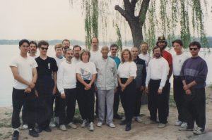 Grand Master Liu Wan Fu and Xing Yi Quan students Tianjin 1994