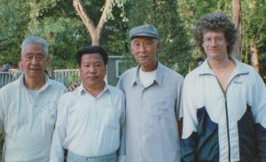 Liu Wan Fu with Scott Jensen in Tianjin in 1995