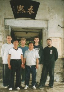Studying Lan Shou Quan with Liu Wan Fu Disciples in Tianjin, China, in 2002