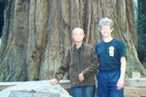 Sifu Liang Ke Qian with Sifu Jensen in Muir Woods