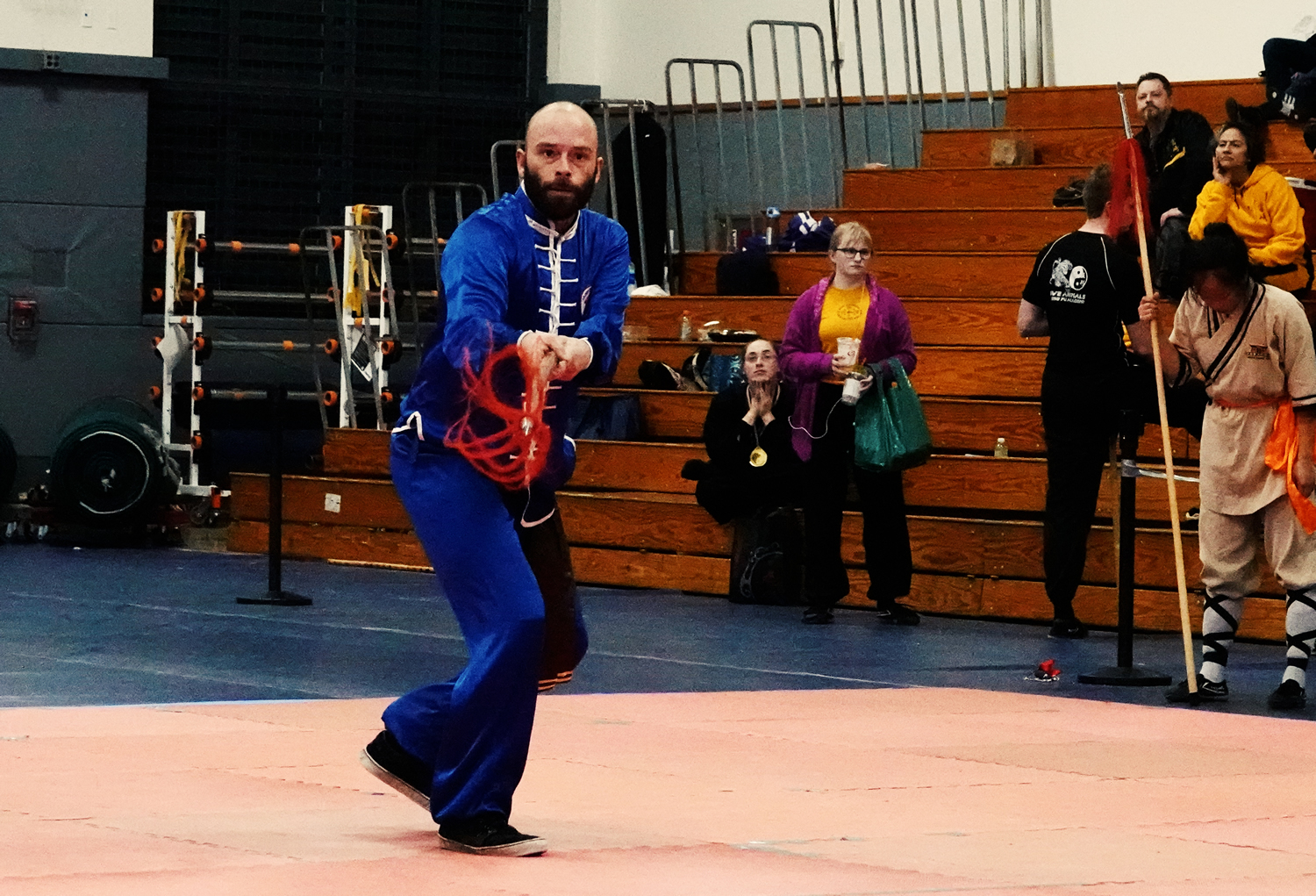 Joseph Vigneri performs Plum Blossom Spear from the Lohan or Buddha Palm Style of Kung Fu. This is an expert level spear form.