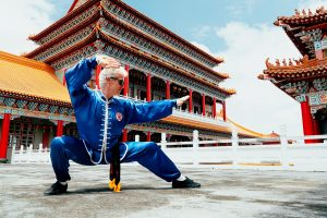 Sifu Jensen strikes a pose Northern Shaolin #10 while in Taiwan.