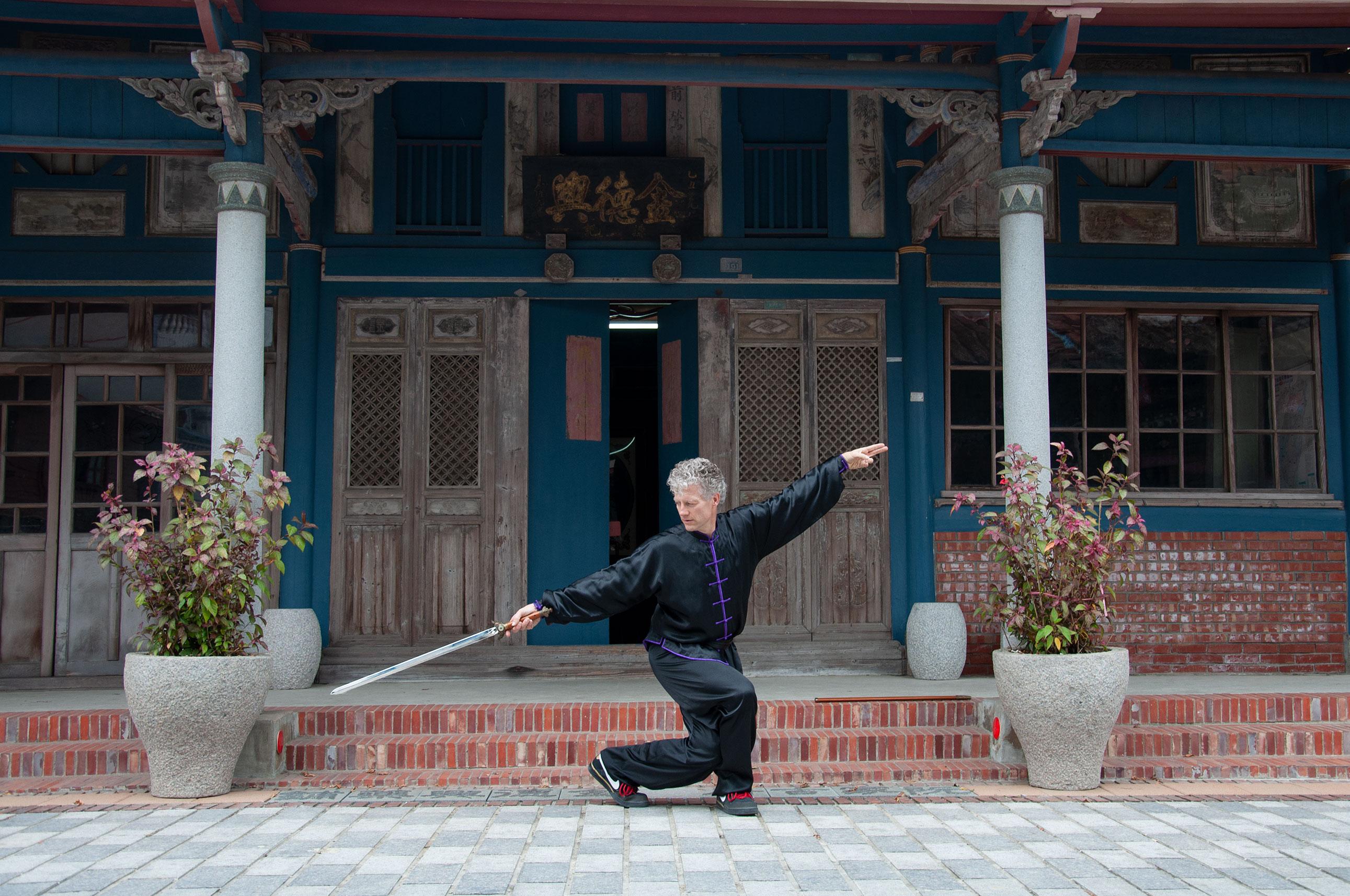 Sword form performed by Sifu Jensen, teacher of 10,000 victories school in San Rafael, Marin, CA.