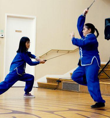 Simu Jensen and Erica training together.