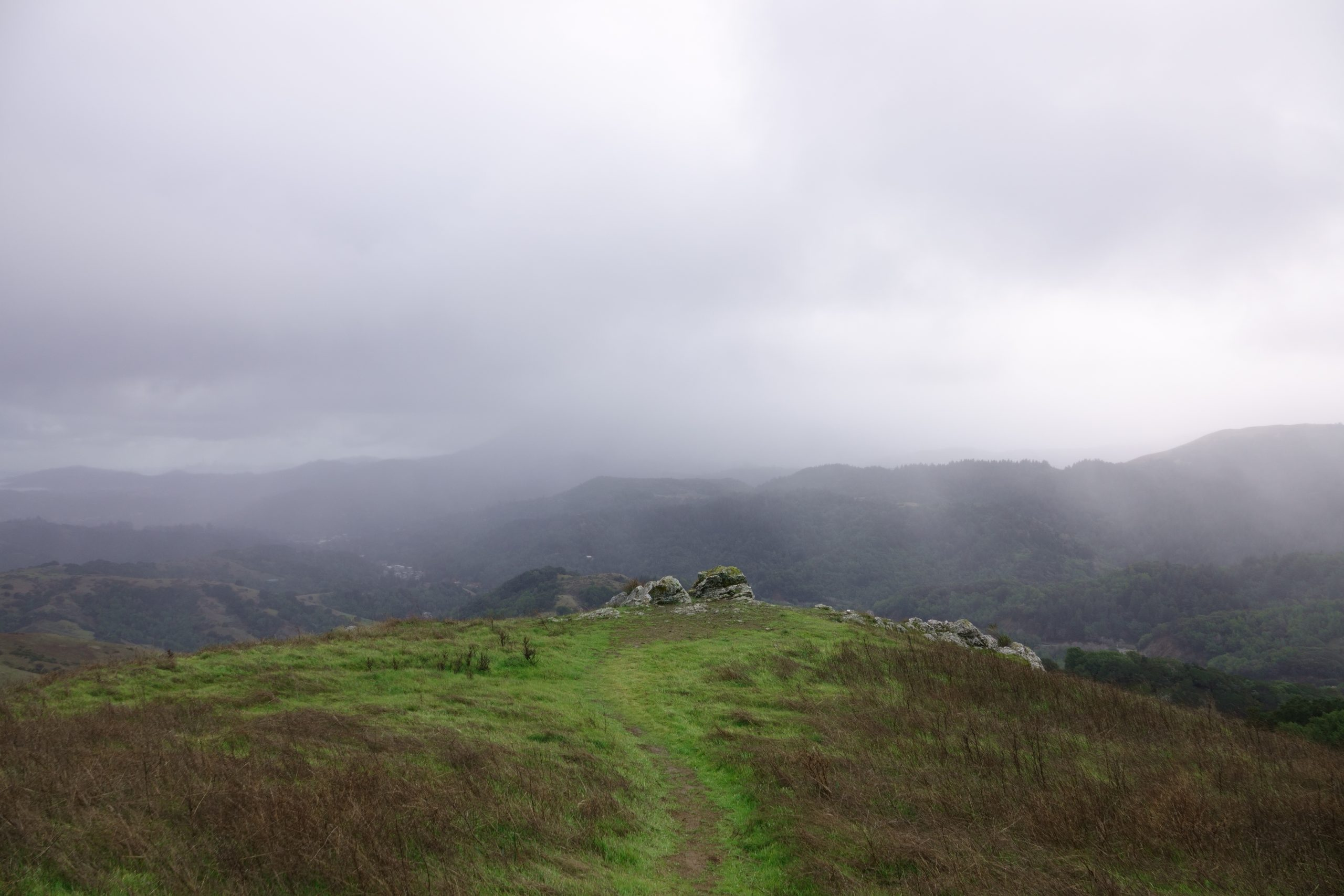 Clouds Swirl and Spears Fly Over Marin – Aerial Video