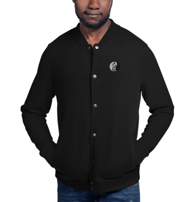 Tai Chi Embroidered Bomber Jacket