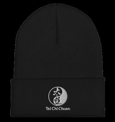 Tai Chi Chuan White and Black Beanie