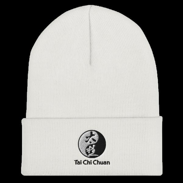 White Tai Chi Chuan Cuffed Beanie
