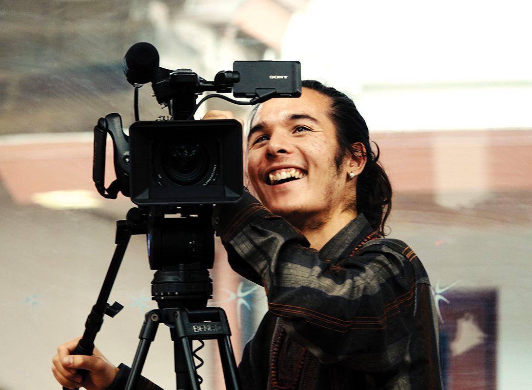 Sean Lim working at the Camera.