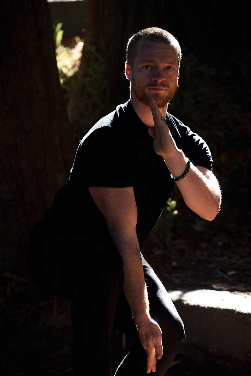 Photo of River Rudl as he trains Kung fu. 10,000 Victories school is located in San Rafael, Marin, CA.