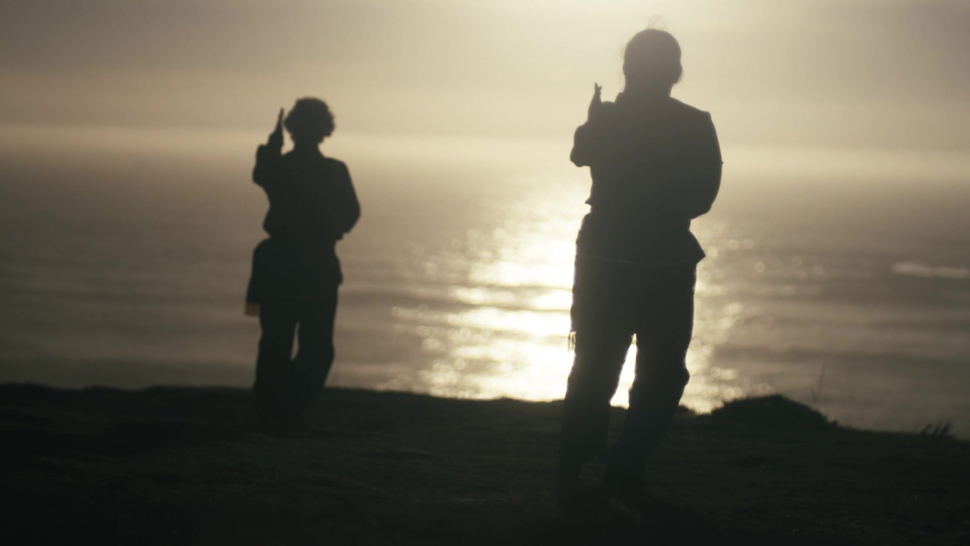Sifu and Erica perfom Tai Chi for the new video. 10,000 Victories School is in San Rafaef, Marin, CA.