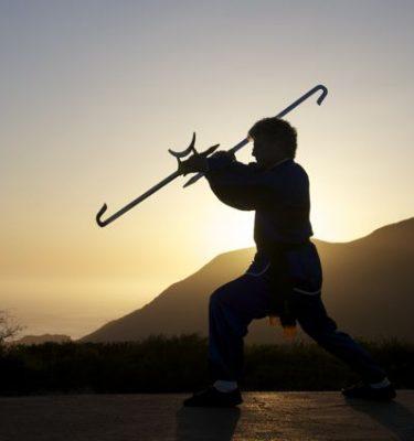 Scott Jensen Performs the Sun Moon Hook Swords