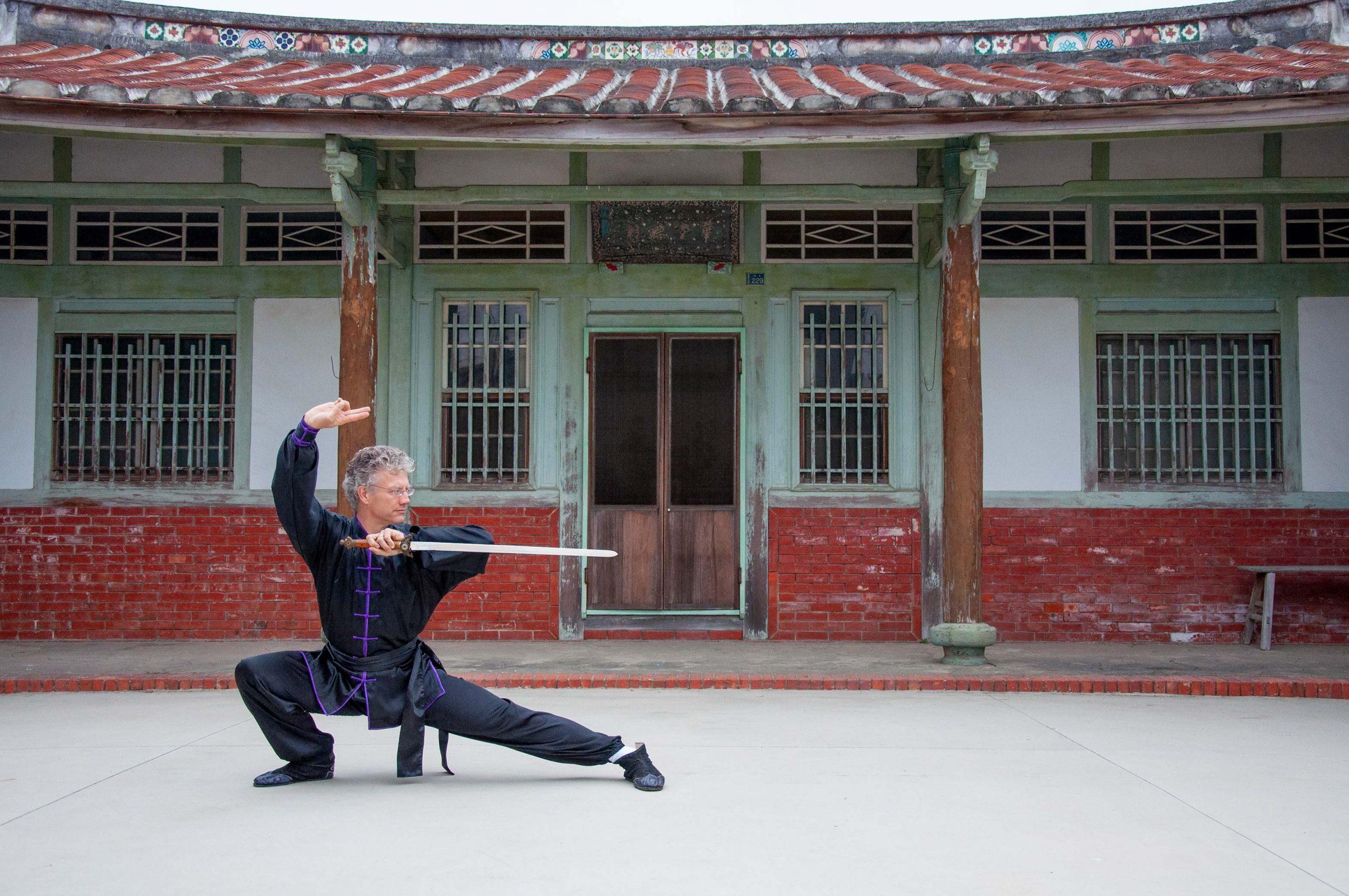 Dragon Phoenix Sword performed by Sifu Scott Jensen in Taiwan